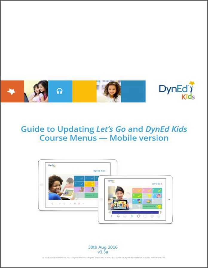 DynEd Kids Menu Upgrade Guide Mobile-EN截图