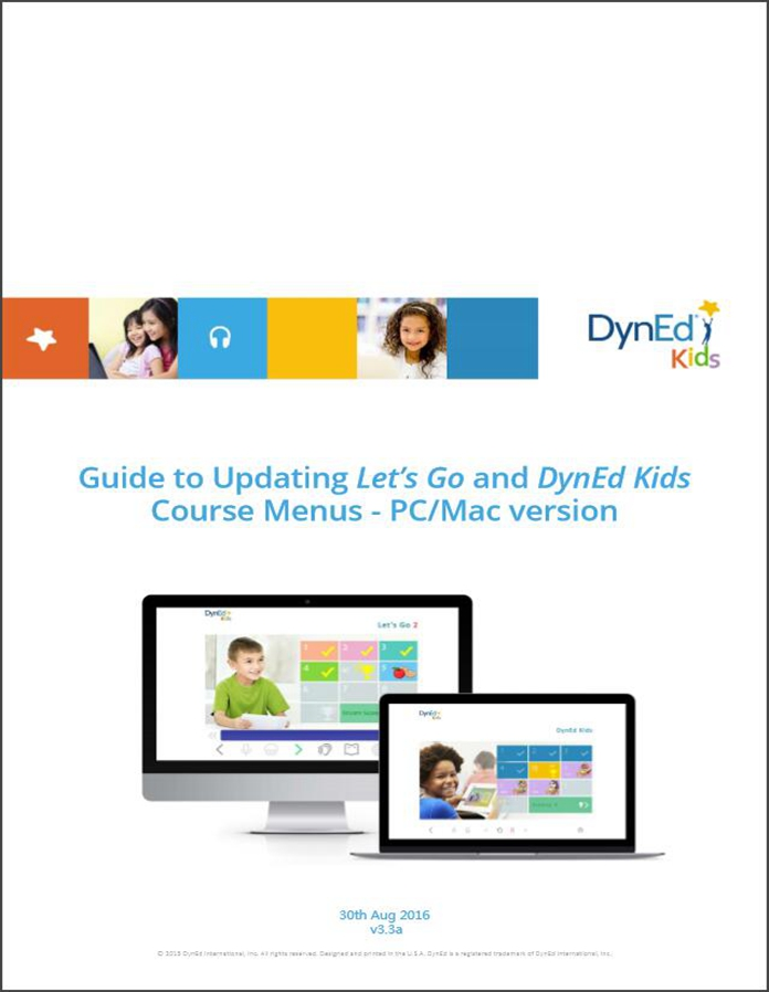 DynEd Kids Menu Upgrade Guide PC-EN截图